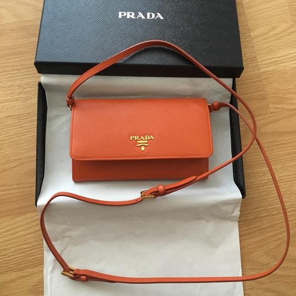 bd8f7260f82fc8 Prada Bags | Saffiano Leather Wallet Wstrap Brand New | Poshmark